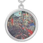 Monet - ruda Santo-Denis en la festividad nacional Colgante