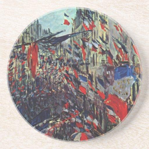 Monet - ruda Santo-Denis en la festividad nacional Posavasos Manualidades