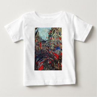Monet - Rue Saint-Denis on the National Holiday Baby T-Shirt