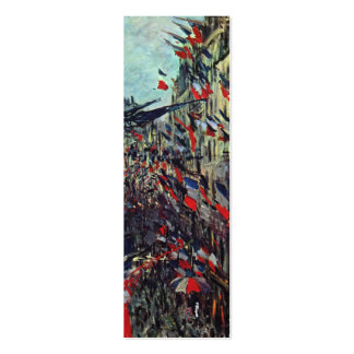 Monet - Rue Saint-Denis on the National Holiday Double-Sided Mini Business Cards (Pack Of 20)