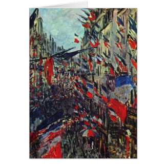 Monet - Rue Saint-Denis on the National Holiday Greeting Card
