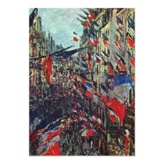Monet - Rue Saint-Denis on the National Holiday Card