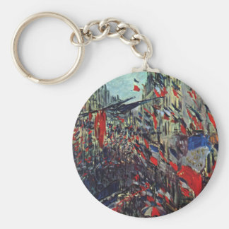 Monet - Rue Saint-Denis on the National Holiday Keychain