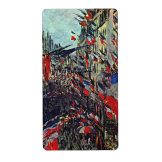 Monet - Rue Saint-Denis on the National Holiday Label