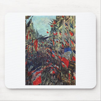 Monet - Rue Saint-Denis on the National Holiday Mouse Pad