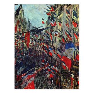 Monet - Rue Saint-Denis on the National Holiday Postcard