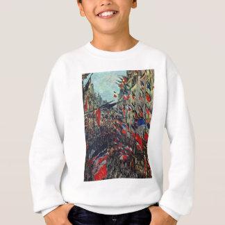 Monet - Rue Saint-Denis on the National Holiday Sweatshirt