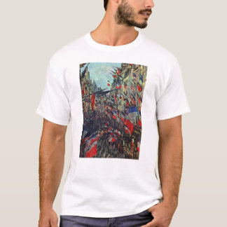 Monet - Rue Saint-Denis on the National Holiday T-Shirt