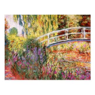 Monet s Bridge and Flowers Postcard