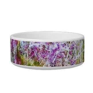 Monet s Bridge with Flowers Cat Food Bowls