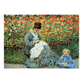 Monet s Famous Painting Camille Monet and Child Print