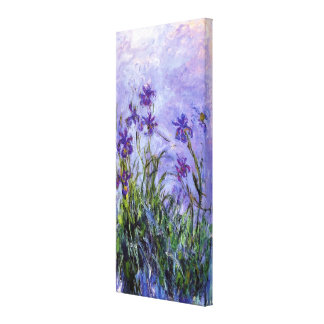 Monet's Lilac Irises Canvas Print