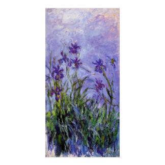 Monet's Lilac Irises Poster