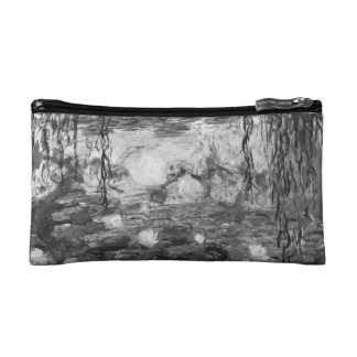 Monet's Water Lilies (black & white version) Cosmetic Bag