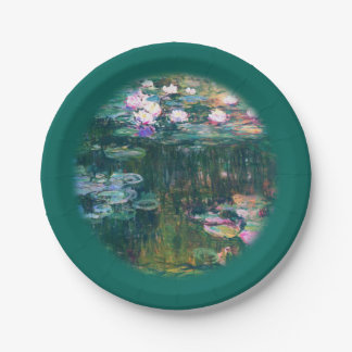 Monet's Water Lilies Paper Plate