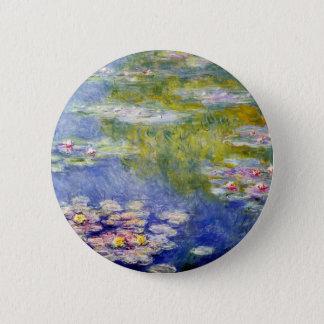 Monet's Water Lilies Pinback Button
