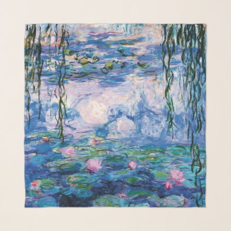 Monet's Water Lilies Scarf