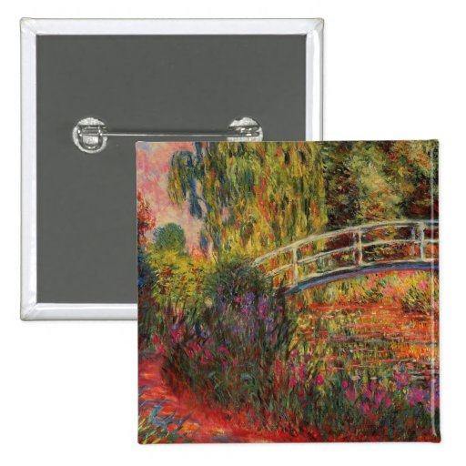 Monet's Water Lily Pond 2 Inch Square Button