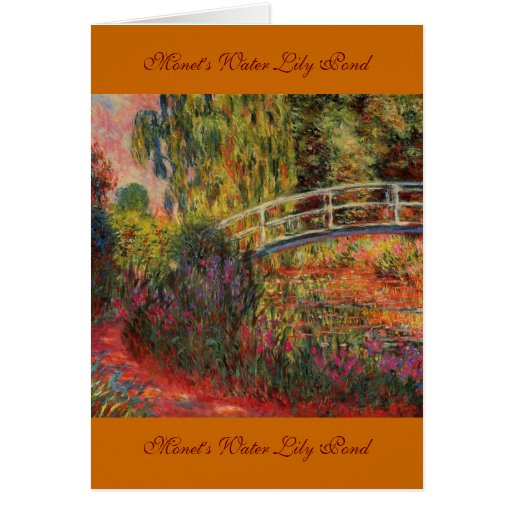 Monet's Water Lily Pond Cards