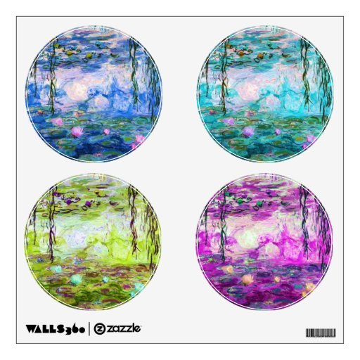 Monet's Water Lily Pond (Collage) Wall Skins