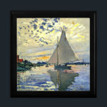 "Monet - Sailboat at Le Petit-Gennevilliers Jewelry Box<br><div class=""desc"">Claude Monet painting,  Sailboat at Le Petit-Gennevilliers,  gift box.  VIRGINIA5050,  custom-designed products and gifts at www.zazzle.com/virginia5050*,  PaulKleeGiftShop,  InternationalGifts,  RetirementGiftStore,  BirthdayGiftStore,  ILoveGiftStore,  and FloridaGiftStore.zazzle.com/FloridaGiftStore.</div>"