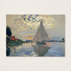 Monet Sailboat French Impressionist Business Card at Zazzle