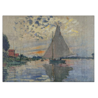 Monet Sailboat French Impressionist Cutting Boards