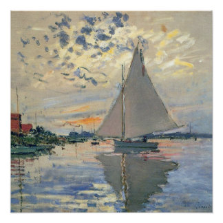 Monet Sailboat French Impressionist Poster