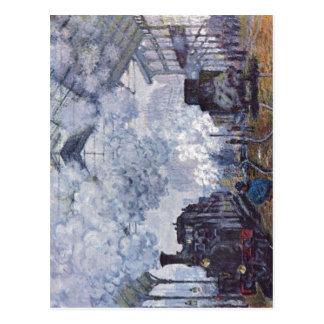 Monet, santo Lazare de Claude Bahnhof en París, An Postal