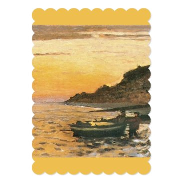 Beach Themed Monet Seacoast Saint Adresse Sunset vintage 1864 Card