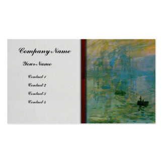 Monet- Soleil Levant Double-Sided Standard Business Cards (Pack Of 100)