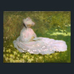 "Monet Springtime Photo Print<br><div class=""desc"">Monet Springtime print. Oil on canvas from 1872. French Impressionist Claude Monet is best known for his later garden and water lily paintings, but his early works are likewise beautiful and charming. Springtime is a painting featuring a pretty young lady in a pink dress and pink bonnet sitting in the...</div>"