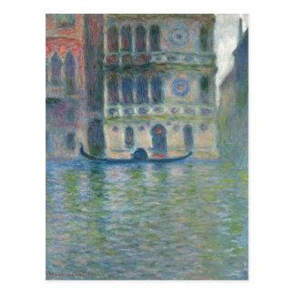 Monet sumario, Claude Palazzo Darío, Venecia 1908  Tarjeta Postal