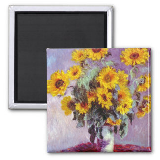 Monet Sunflowers Magnet