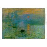 Monet Sunrise Art Card
