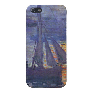 Monet sunrise at sea sailboat painting boating art cover for iPhone SE/5/5s