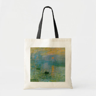 Monet Sunrise Painting Totebag Bookbag Tote Bag