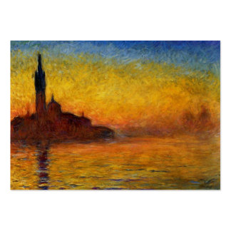 Monet Sunset in Venice Impressionist Painting Large Business Card