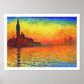 Monet Sunset: San Giorgio Maggiore at Dusk II Poster