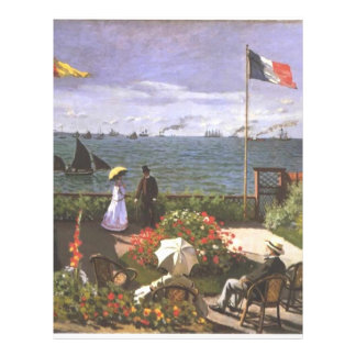 Monet Terasse am Meeresufer von Sainte Adresse Flyer