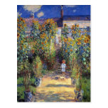 """Monet, """"The Artist's Garden at Vétheuil"""" Postcard"""
