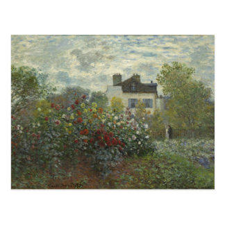 Monet The Artist's Garden in Argenteuil Postcard
