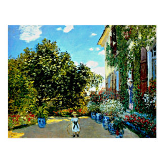 Monet - The Artist's House at Argenteuil Postcard