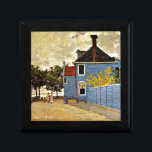 "Monet - The Blue House at Zaandam Gift Box<br><div class=""desc"">Monet - The Blue House at Zaandam gift box.  Impressionism cityscape by Claude Monet,  1871. VIRGINIA5050 (My Original Artwork): Creative and unusual gifts for all occasions at www.zazzle.com/virginia5050*</div>"