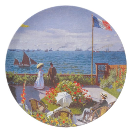 Monet the Garden at St Addresse French Painting Dinner Plate
