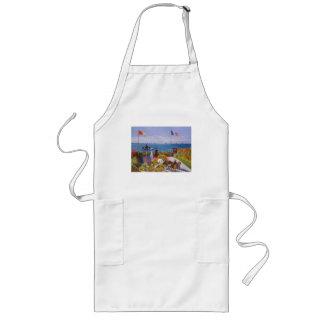 Monet the Garden at St Addresse French Painting Long Apron