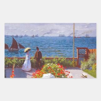 Monet the Garden at St Addresse French Painting Rectangular Sticker
