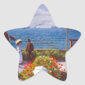 Monet the Garden at St Addresse French Painting Star Sticker
