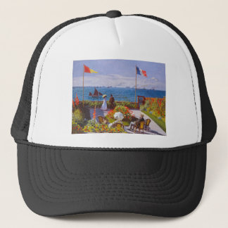 Monet the Garden at St Addresse French Painting Trucker Hat