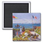Monet The Garden At St. Addresse Painting Fridge Magnet